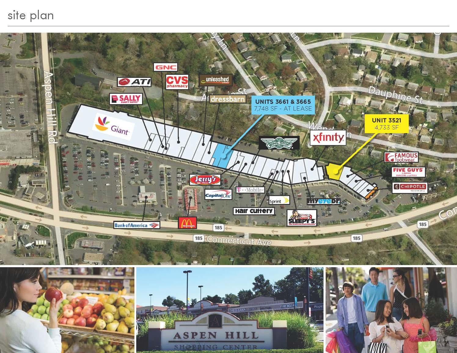 Aspen Hill SC Site Plan Streetsense Brokerage